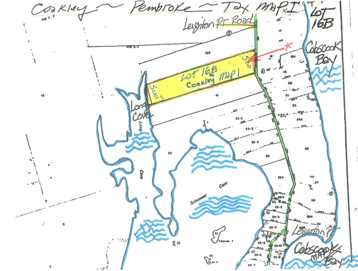 tax map of land for sale leighton point road pembroke maine