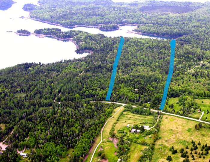 aerail view of land for sale leighton point road pembroke maine